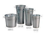 "Galvanized Buckets - 11.5"" Tall - 6ct"