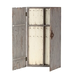 Gray Wooden Jewelry Wall Cabinet