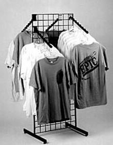 Grid T Shirt Rack Apparel Rack Grid Display Retail