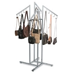 Handbag Rack with Waterfall J-Hook Arms