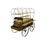 Covered Wagon Kiosk - Toasted Finish