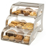 Large Tiered Bakery Display With Metal Frame