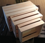 Lightweight Nesting Crates with Hand Holes