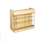 Maple Ledgetop Counter With Showcase