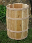 Natural Cedar Whole Barrel - 14in D x 23in H