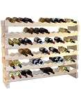 Pine Stackable Wine Rack