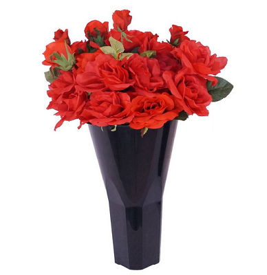 Floral Vase Cone Style Floral Display Bin Plastic Vase