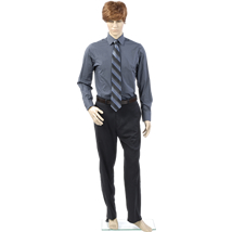 Plastic Male Mannequin Bent Right Arm