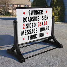 Portable Roadside Letterboard Sign Portable Roadside Sign