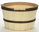 Quarter Peck Baskets - Brown Bands - 12ct