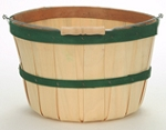 Quarter Peck Baskets - Green Bands - 12ct