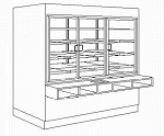 Self Serve Doughnut / Pastry Wall Case - 62