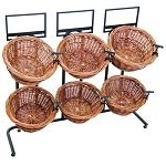 Short Two Toned 6 Basket Wicker Display