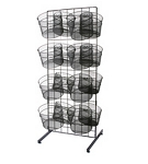 Single Sided Wire Mesh Basket Display