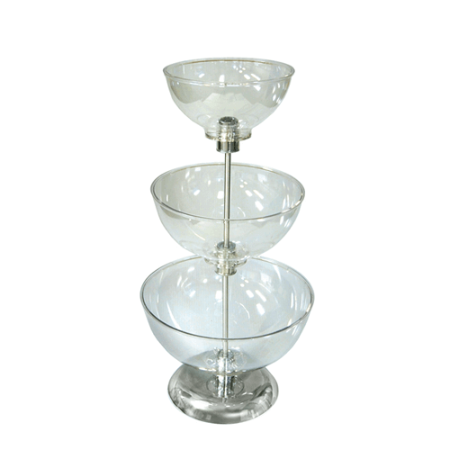 Small Three Tier Bowl Counter Display Bowl Display Stand
