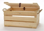 Small Crate With Lid And Rope Handle - 4ct
