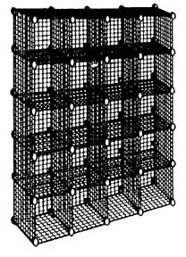 Square 20 Cube Rack Wire Display Racks Organizing Unit