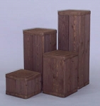 Square Pedestal 4 pc Set - Color Choice