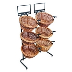 Tall Two Toned 6 Basket Wicker Display