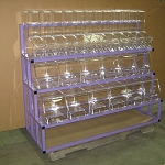 3 Tier Metal Candy Rack And 24 Bulk Bins