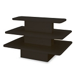 Black Rectangle Three Tier Display Table