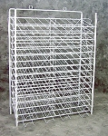 White Slot Paper Rack, 12