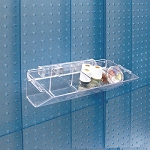 4-Compartment Pegboard / Slatwall Tray -2ct