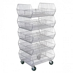 5-Tier Collapsible Wire Basket Display