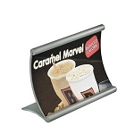 Curved Metal Counter Sign Holder 6