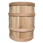 Natural 10in D x 15in H Cedar Whole Barrel - 2ct