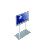 Acrylic Sign Holder On Chrome Stand - 8.5