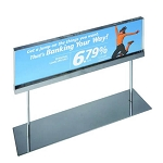 Acrylic Sign Holder On Chrome Stand - 22