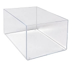 Acrylic Rectangular Bin - 16in