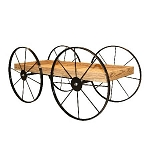 Buckboard Wood Cart Display