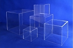 Clear Acrylic 5-Sided Cube Display - Size Options