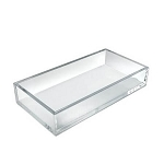 Clear Deluxe Rectangular Tray - 4ct