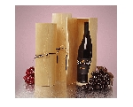 Large Cylinder Wood Wine Box - 6ct