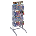 Pegboard Two-Sided Revolving Brochure Floor Display Kit
