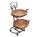 2 Oval Wicker Display Basket