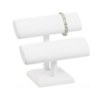 White Double T-Bar Jewelry Display