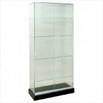Wide Frameless Glass Tower Display