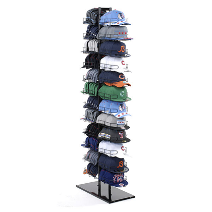 12 Tier Double Sided Cap Tower Hat Rack Retail Hat Display