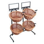 Two Toned 2 Wide 2 Basket Wicker Display