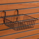 Wire Slatwall Basket - Color Choice