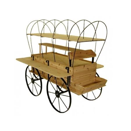 Covered Wagon | Vendors Cart | Kiosk Wood Display Fixture