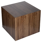 Walnut Veneer Cube Table - Size Choice