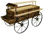 Western Wagon Kiosk - Toasted Finish