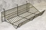 Gridwall Wire Sloping Shelf - 24W