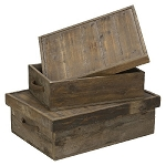 Wood Organizer Boxes - Set of 2