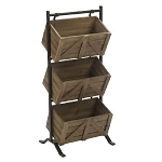 Wooden 3-Tier Crate Display Stand